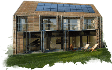 croquis maison écologique