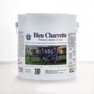 bleu charrette peinture naturelle au bleu de pastel