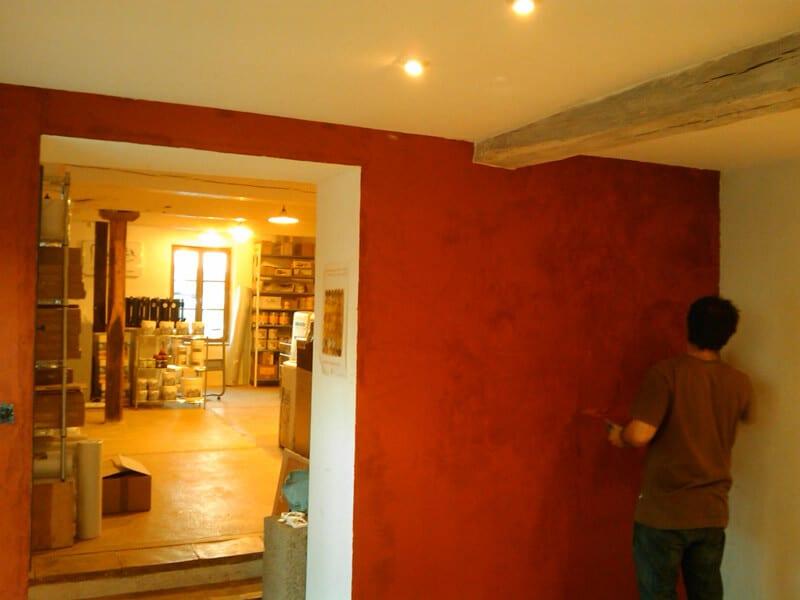 Enduit terre décoration mur intérieur