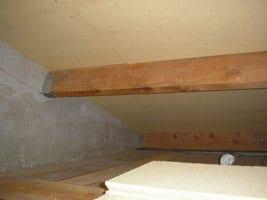 isolation fibre de bois rampant garage